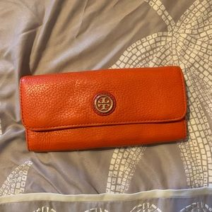 Tory Burch Orange Wallet